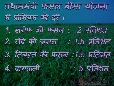 प्रधान मंत्री फसल बीमा योजना की जानकारी। Pradhan Mantri Fasal Bima Yojana.