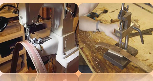 belt-making-sewing and hole machine