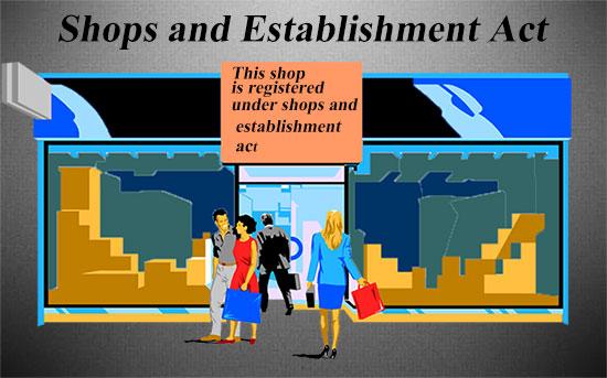 Shops and Establishment Act in Hindi. दुकान एवं प्रतिष्ठान अधनियम.