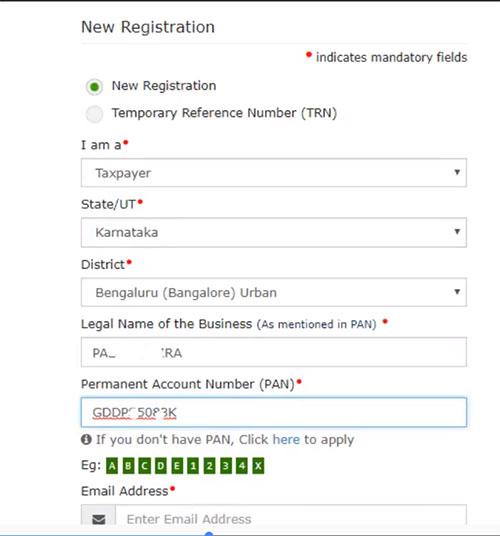 GST- new Registration step 2