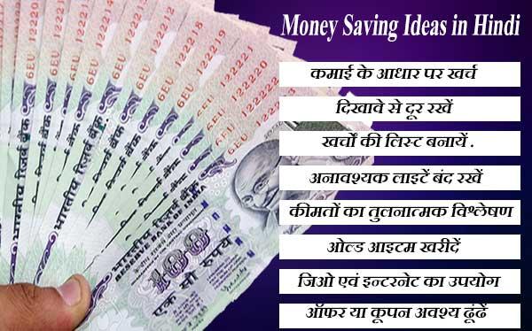 पैसे बचाने के बारह तरीके। 12 Best Money Saving Tips in Hindi.