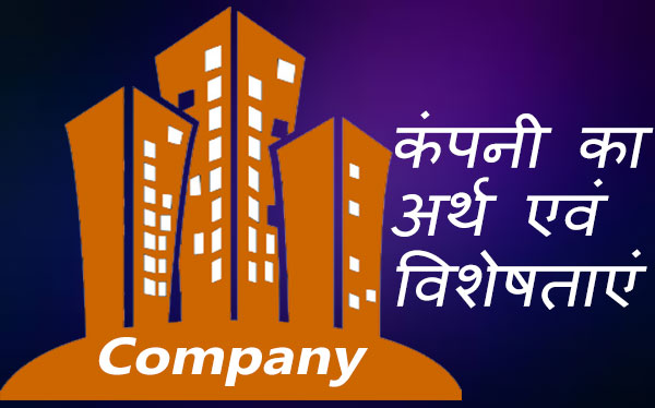 Company Meaning and Characteristics in Hindi.