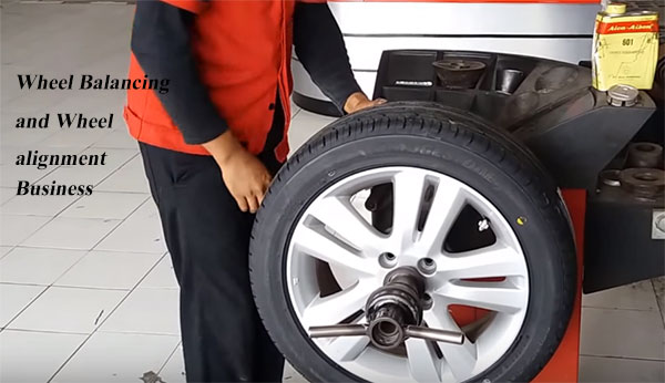 Computerized wheel balancing and alignment workshop Business