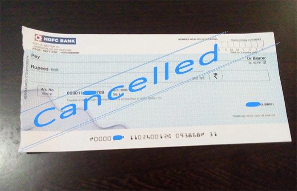Cancelled Cheque क्या है? कैसे बनायें और इसके उपयोग।