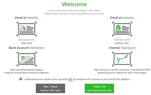 Step 6 to get KYC Verification online