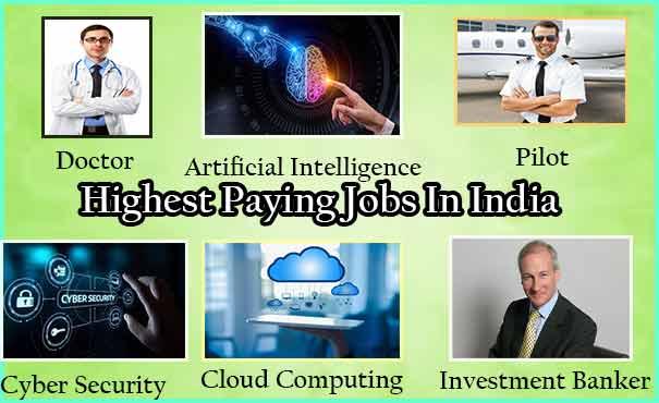 11 अधिक सैलरी वाली जॉब की लिस्ट। 11 Highest Paying Corporate Jobs in India.